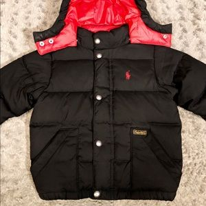 Boys Polo puffer jacket paid $168 size 2T Like new